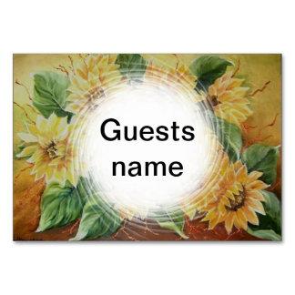 Sunflowers Table Card