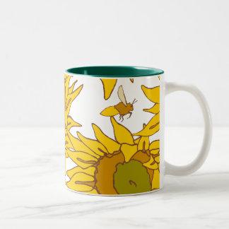 Sunflowers Teal Interior 11oz Mug