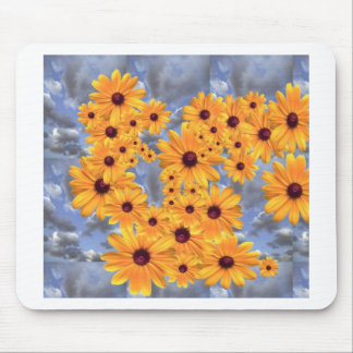 SUNFLOWERS TEMPLATE MOUSE PAD