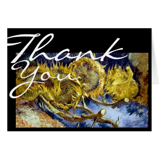 Sunflowers - Thank You card