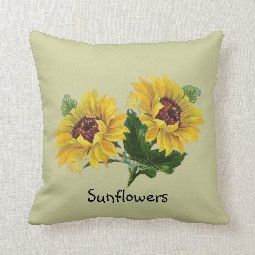 Sunflowers Throw Pillow Zazzle