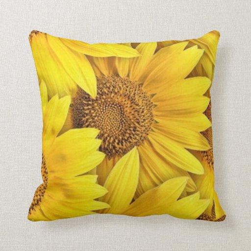 Throw Pillows With Sunflower Design : Sunflowers Throw Pillow Pillows Zazzle