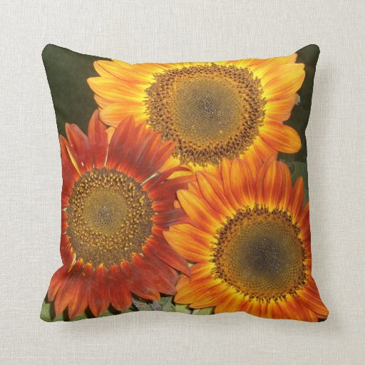 Sunflowers Throw Pillows Zazzle