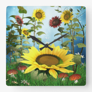Sunflowers Throw Wall Clock