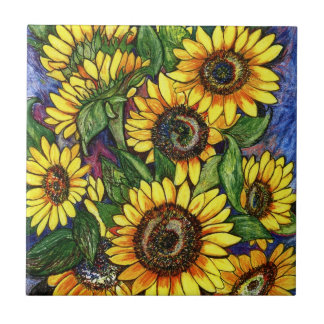 Sunflowers Tile