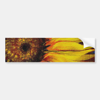 Sunflowers to Warm-up Your Heart! Car Bumper Sticker