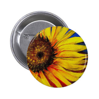 Sunflowers to Warm-up Your Heart! 2 Inch Round Button