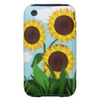 Sunflowers Tough iPhone 3 Case