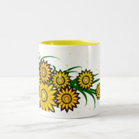 Sunflowers Two-Tone Coffee Mug