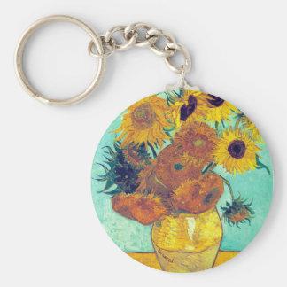 Sunflowers, Van Gogh Keychains