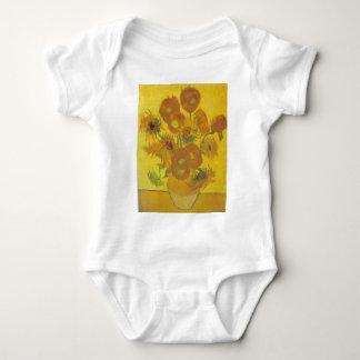 Sunflowers - Vincent Van Gogh Baby Bodysuit