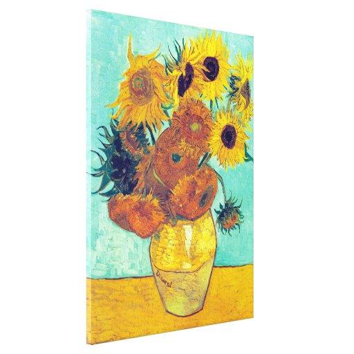 Sunflowers, Vincent Van Gogh Stretched Canvas Print