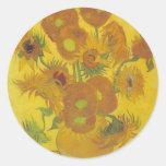 Sunflowers - Vincent Van Gogh Sticker
