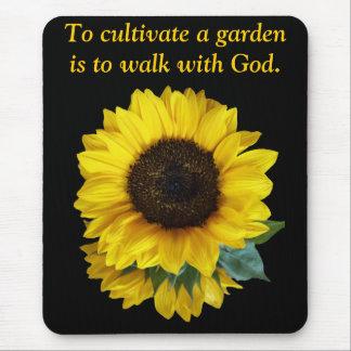 Sunflowers Walk With God Mousepad
