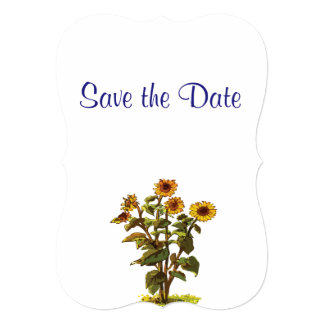 Sunflowers Wedding Day Theme Save the Date Card