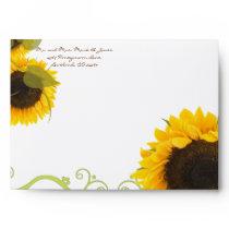 SunFlowers Wedding Envelopes
