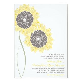"Sunflowers Wedding Invitation 5"" X 7"" Invitation Card"