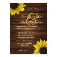 Sunflowers Wedding Invitation 5&quot; X 7&quot; Invitation Card (<em>$2.06</em>)