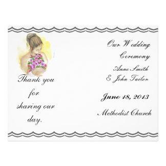 Sunflowers Wedding Program Flyer Design