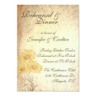 "Sunflowers Wedding Rehearsal Dinner Invitation 5"" X 7"" Invitation Card"
