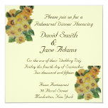 SUNFLOWERS -wedding rehearsal dinner 5.25x5.25 Square Paper Invitation Card