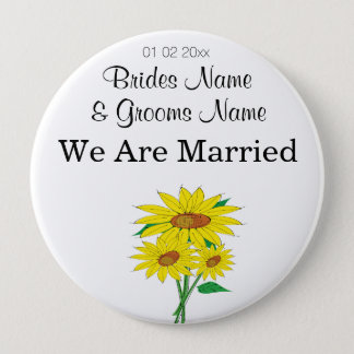 Sunflowers Wedding Souvenirs Keepsakes Giveaways Button