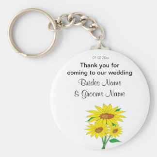Sunflowers Wedding Souvenirs Keepsakes Giveaways Keychain