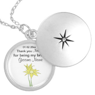 Sunflowers Wedding Souvenirs Keepsakes Giveaways Locket Necklace