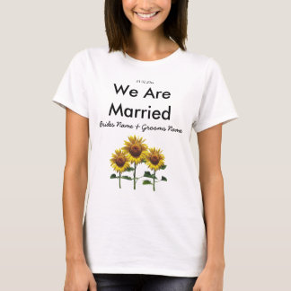 Sunflowers Wedding Souvenirs Keepsakes Giveaways T-Shirt