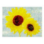 Sunflowers Whimsy Postcards