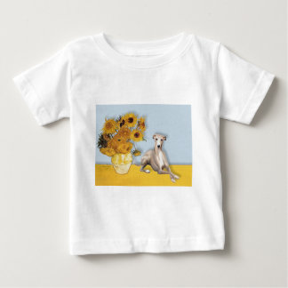 Sunflowers - Whippet #2A Baby T-Shirt