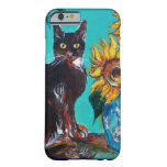 SUNFLOWERS WITH CAT BARELY THERE iPhone 6 CASE