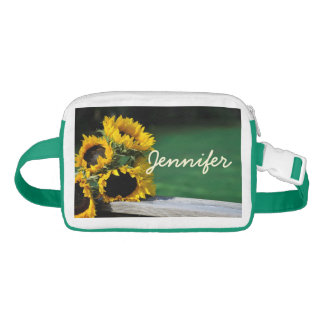 Sunflowers with Green Grass Nylon Fanny Pack