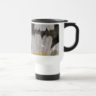 Sunflowers Woman Butterfly Grunge 15 Oz Stainless Steel Travel Mug