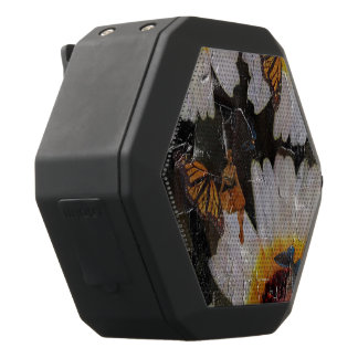 Sunflowers Woman Butterfly Grunge Black Bluetooth Speaker