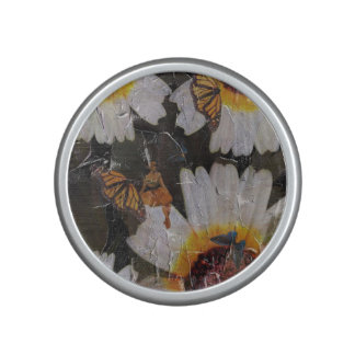 Sunflowers Woman Butterfly Grunge Speaker