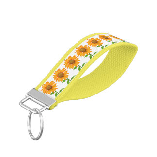 Sunflowers Wrist Keychain