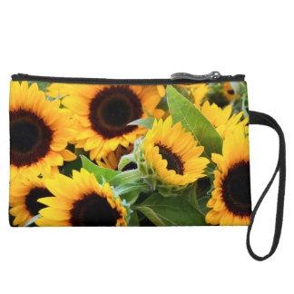Sunflowers Wristlet Purse
