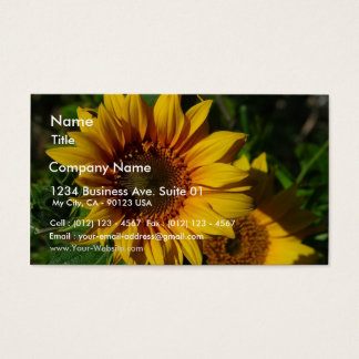 Sunflowers Yellow Business Card
