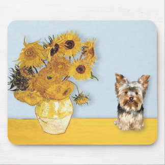 Sunflowers - Yorkshire Terrier 17 Mouse Pad