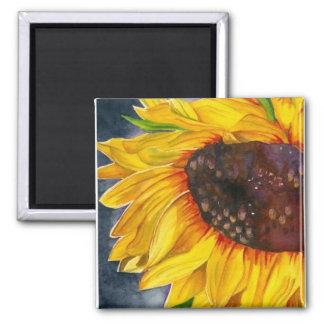 SunflowerSatisfaction 2 Inch Square Magnet