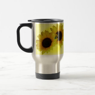 SunflowerTravel Mug Cheerful Yellow Sunflower Mugs