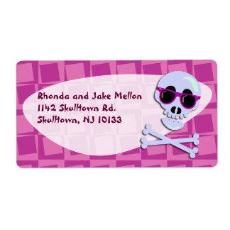 Sunglass Skull Labels