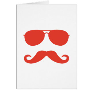 sunglasses and 'stache card