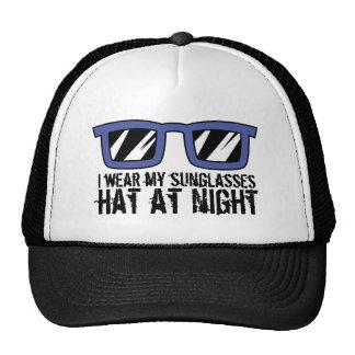 Sunglasses at night trucker hat