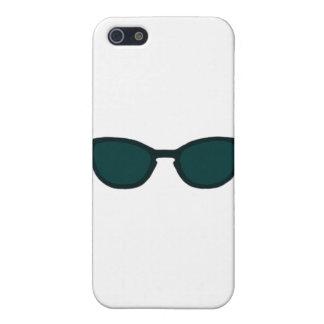 Sunglasses Black Rim Dk Green Lens The MUSEUM Zazz Cover For iPhone SE/5/5s