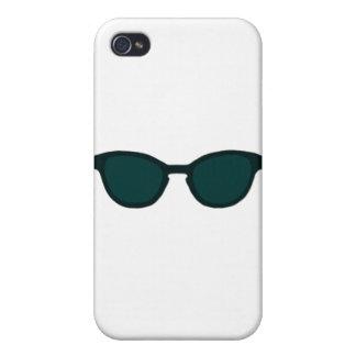 Sunglasses Black Rim Dk Green Lens The MUSEUM Zazz iPhone 4/4S Cover