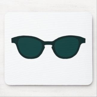 Sunglasses Black Rim Dk Green Lens The MUSEUM Zazz Mouse Pad