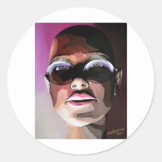 Sunglasses by Cebarre Classic Round Sticker