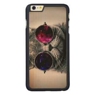sunglasses cat carved maple iPhone 6 plus case